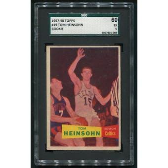 1957/58 Topps Basketball #19 Tom Heinsohn Rookie SGC 60 (EX 5)