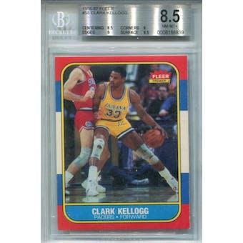 1986/87 Fleer #58 Clark Kellogg BGS 8.5 *6839 (Reed Buy)