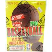 1990/91 Fleer Basketball Wax Box (BBCE)