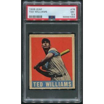 1948 Leaf Baseball #76 Ted Williams PSA 5.5 (EX+)