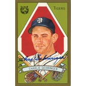 Charlie Gehringer Detroit Tigers Autographed Perez-Steele Masterworks #4 JSA KK52272 (Reed Buy)