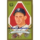 Charlie Gehringer Detroit Tigers Autographed Perez-Steele Masterworks #4 JSA KK52273 (Reed Buy)