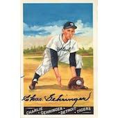 Charlie Gehringer Detroit Tigers Autographed Perez-Steele Masterworks #2 JSA KK52275 (Reed Buy)