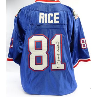 Jerry Rice Autographed 1990 Pro Bowl Mitchell & Ness Jersey BAS I63464 (Reed Buy)