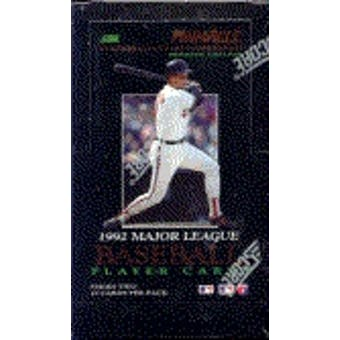 1992 Pinnacle Series 2 Baseball Hobby Box