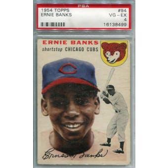 1954 Topps #94 Ernie Banks RC PSA 4 *8499 (Reed Buy)