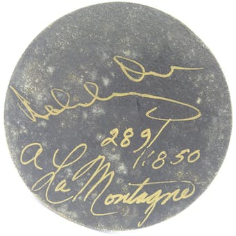 Bobby Orr/Armand LaMontagne Autographed Wooden Puck #/1850 JSA KK52824 (Reed Buy)