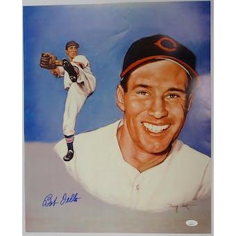 Bob Feller Cleveland Indians Autographed 16x20 Photo JSA DD86017 (Reed Buy)