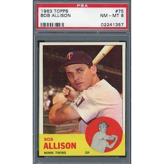 1963 Topps #75 Bob Allison PSA 8 *1357 (Reed Buy)