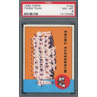 1963 Topps #162 Twins Team PSA 8 *3495 (Reed Buy)