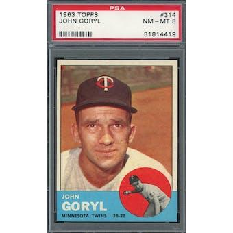 1963 Topps #314 John Goryl PSA 8 *4419 (Reed Buy)