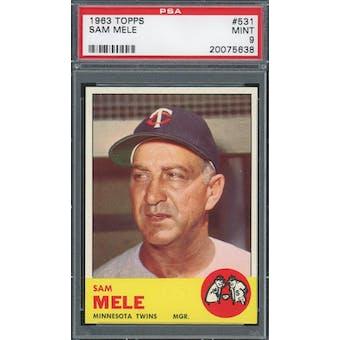 1963 Topps #531 Sam Mele PSA 9 *5638 (Reed Buy)