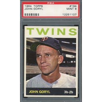 1964 Topps #194 John Goryl PSA 9 *1107 (Reed Buy)