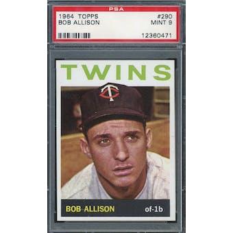 1964 Topps #290 Bob Allison PSA 9 *0471 (Reed Buy)
