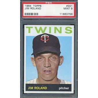 1964 Topps #341 Jim Roland PSA 9 *3758 (Reed Buy)