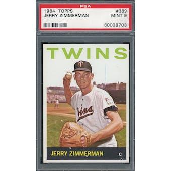 1964 Topps #369 Jerry Zimmerman PSA 9 *8703 (Reed Buy)