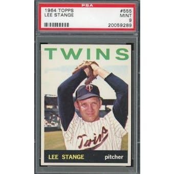 1964 Topps #555 Lee Stange PSA 9 *9289 (Reed Buy)