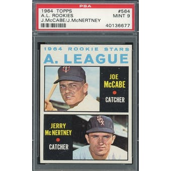 1964 Topps #584 AL Rookies PSA 9 *6677 (Reed Buy)