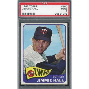 1965 Topps #580 Jimmie Hall PSA 9 *1676 (Reed Buy)