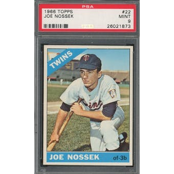 1966 Topps #22 Joe Nossek PSA 9 *1873 (Reed Buy)