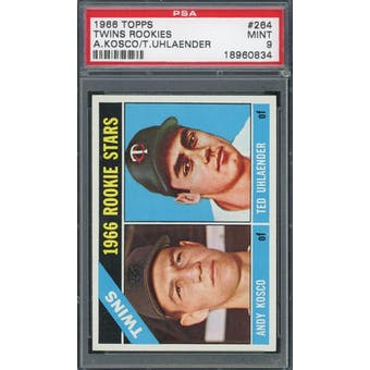 1966 Topps #264 Twins Rookies PSA 9 *0834 (Reed Buy)