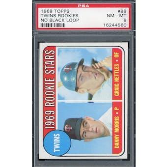 1969 Topps #99 Twins Rookies No Loop PSA 8 *4560 (Reed Buy)