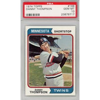 1974 Topps #168 Danny Thompson PSA 10 *9717 (Reed Buy)