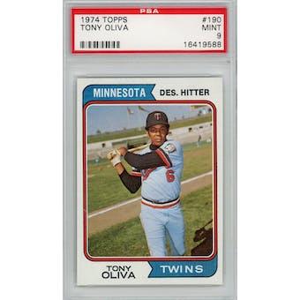 1974 Topps #190 Tony Oliva PSA 9 *9588 (Reed Buy)