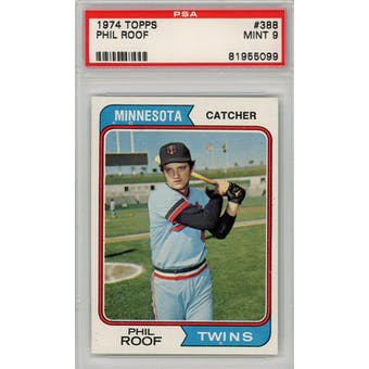 1974 Topps #388 Phil Roof PSA 9 *5099 (Reed Buy)