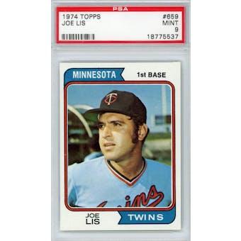 1974 Topps #659 Joe Lis PSA 9 *5537 (Reed Buy)