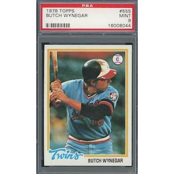1978 Topps #555 Butch Wynegar PSA 9 *8044 (Reed Buy)