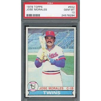 1979 Topps #552 Jose Morales PSA 10 *8294 (Reed Buy)