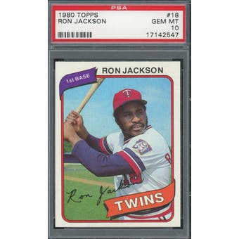 1980 Topps #18 Ron Jackson PSA 10 *2547 (Reed Buy)