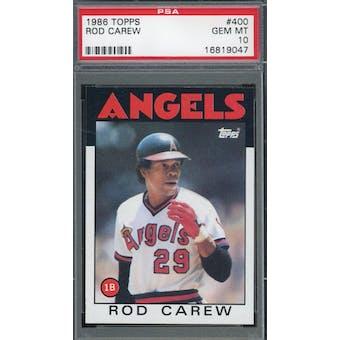 1986 Topps #400 Rod Carew PSA 10 *9047 (Reed Buy)