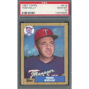1987 Topps #618 Tom Kelly PSA 10 *9998 (Reed Buy)
