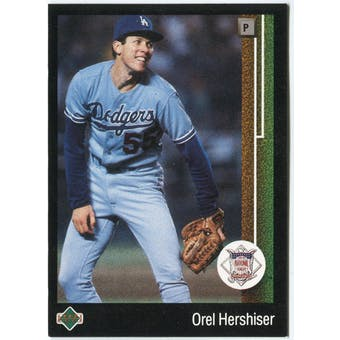 1989 Upper Deck Orel Hershiser Los Angeles Dodgers MVP #665 Black Border Proof