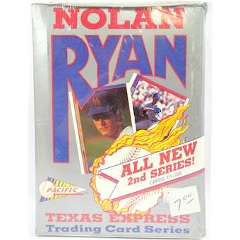 1992 Pacific Nolan Ryan 2nd Series Baseball Hobby Box (Reed Buy)