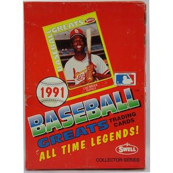 1991 Swell Baseball Greats Baseball Wax Box (Reed Buy)