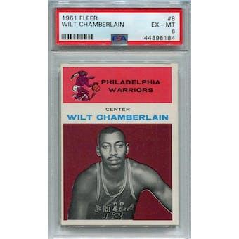 1961/62 Fleer #8 Wilt Chamberlain RC PSA 6 *8184 (Reed Buy)