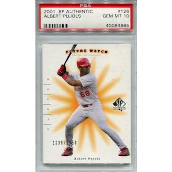 2001 SP Authentic #126 Albert Pujols RC #/1250 PSA 10 *4665 (Reed Buy)