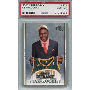 2007/08 Upper Deck #234 Kevin Durant RC PSA 10 *6333 (Reed Buy)