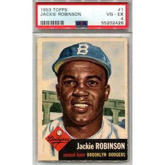 1953 Topps #1 Jackie Robinson PSA 4 *2426 (Reed Buy)