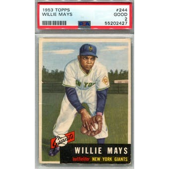 1953 Topps #244 Willie Mays PSA 2 *2427 (Reed Buy)