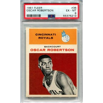 1961 Fleer #36 Oscar Robertson RC PSA 6 *5213 (Reed Buy)