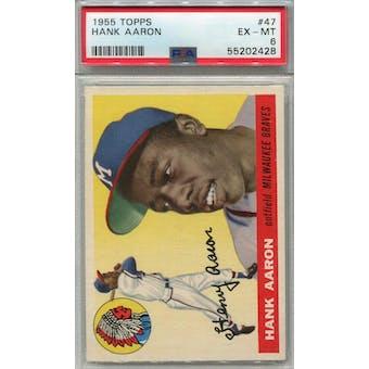 1955 Topps #47 Hank Aaron PSA 6 *2428 (Reed Buy)
