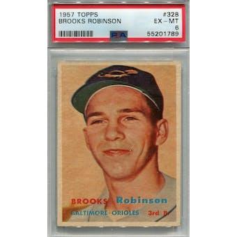 1957 Topps #328 Brooks Robinson RC PSA 6 *1789 (Reed Buy)