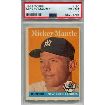 1958 Topps #150 Mickey Mantle PSA 6 *1791 (Reed Buy)