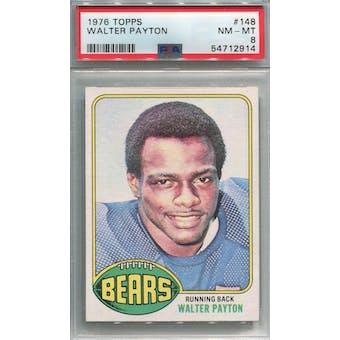1976 Topps #148 Walter Payton RC PSA 8 *2914 (Reed Buy)