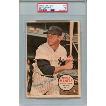 1968 O-Pee-Chee Posters #11 Mickey Mantle PSA 5 *6487 (Reed Buy)