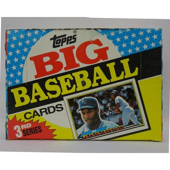 1989 Topps Big Series 3 Baseball Wax Box (Reed Buy)